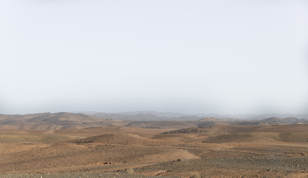 landsape: The dried hills on the way from Fes to Gorges  Du Dades in Morocco Stock Photo