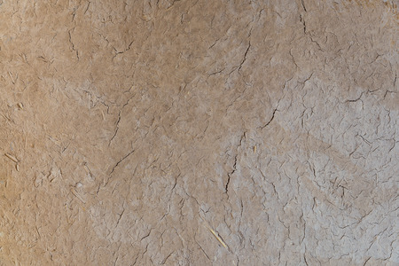 made in morocco: The dried wall made of soil and straw as afican traditional in Morocco for background Stock Photo