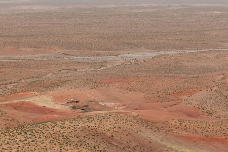 widespread: The small traditional houses on the widespread land on March 2014 on the way to Midelt Morocco