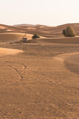 groundwater: The old well in Sahara desert for groundwater Merzouga Morocco