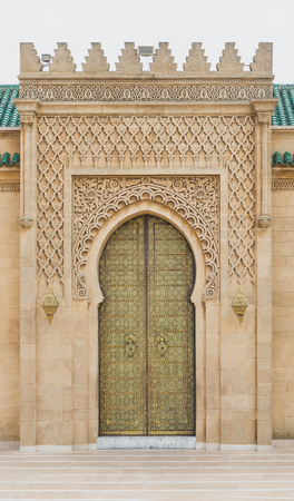 crave: The gate of Mausoleum of Mohammed V in Rabat, Morocco