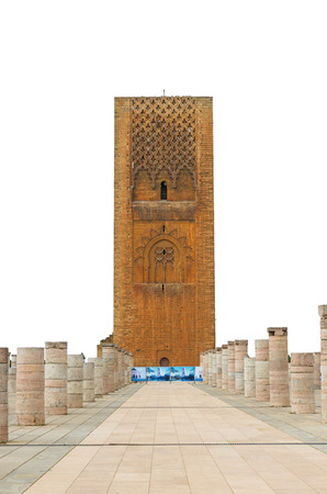 mohammed: Hassan Tower at Mausoleum of Mohammed V in Rabat, Morocco