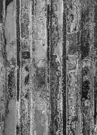 abstracted: The old rusty zinc as black and white abstracted picture for background