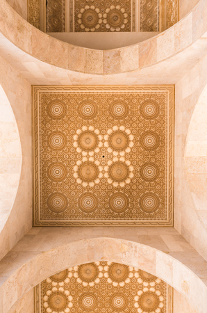 The ceiling of corridor in Grand Mosque of Hassan II