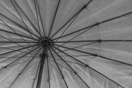 The bottom to top view of umbrella as background