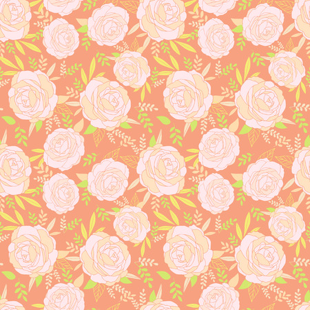 Floral seamless pattern for vintage design.Vector illustration.