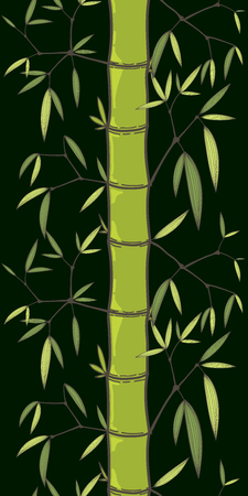 Chinese or japanese bamboo grass oriental wallpaper vector illustration. Tropical asian seamless background.