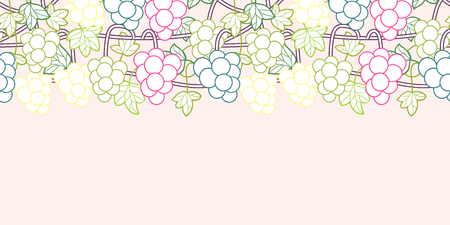 Sweet grape vines seamless pattern background vector