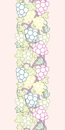 Sweet grape vines seamless pattern background.