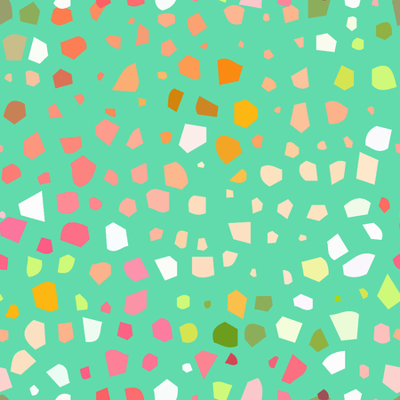Vector seamless terrazzo pattern. Background with textured surface.
