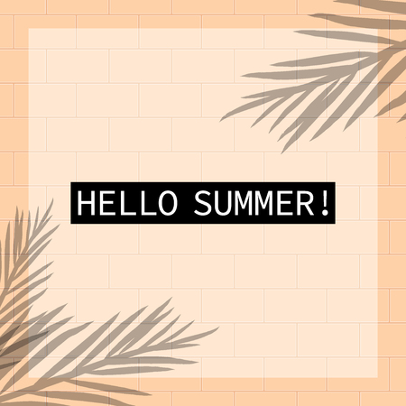 Tropical Summer holiday themed vector background image 矢量图像