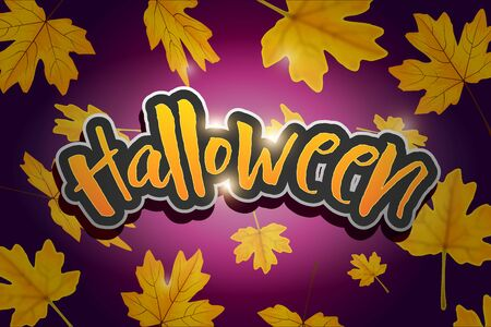 Happy Halloween vector lettering. Holiday calligraphy banner, poster, greeting card, party invitation.