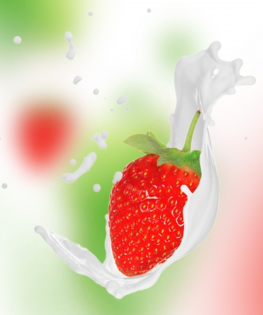 Twister: Strawberry in milk splash