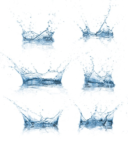 water drops: Water splashes collection