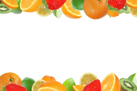 fruit drop: Fresh healthy fruit background