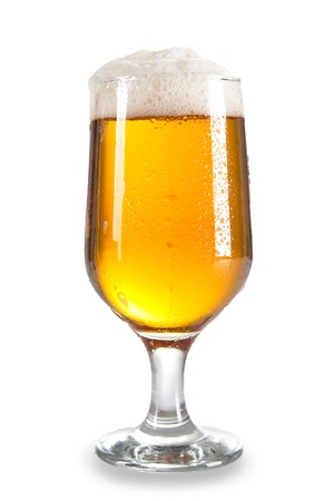 Glass of beer close-up with froth Stock Photo - 14563458