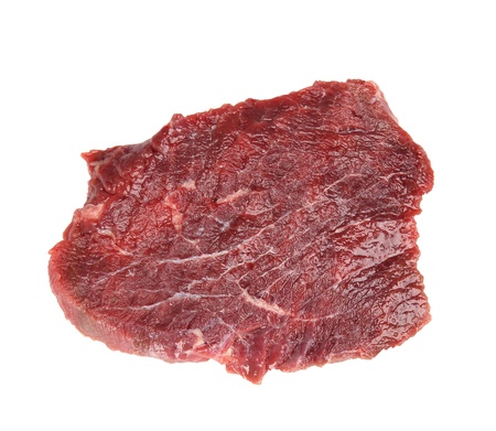 Raw beef steak on a white background  photo