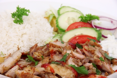 shish: Gyros with rise and vegetable
