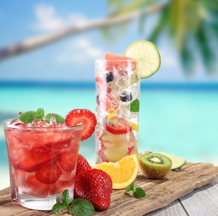 Cocktail on a beach photo