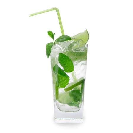 Mojito cocktail over white