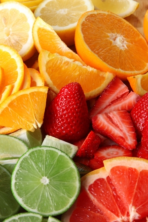 Fresh fruit background  photo