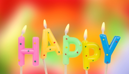 candle wick: Set of colored birthday candles  Stock Photo
