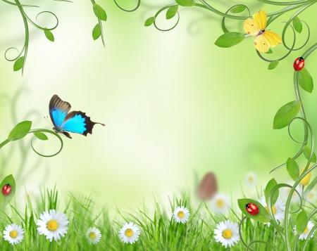morpho: Beautiful floral design Stock Photo
