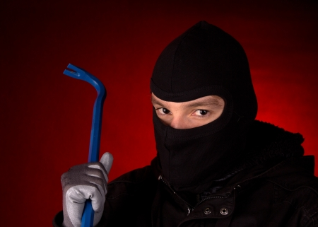 burglar with black cowl  photo
