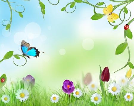 Beautiful floral design  photo