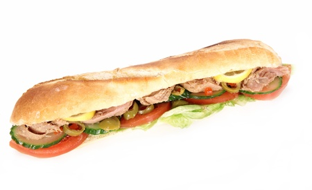 tuna: Tasty tuna baguette Stock Photo