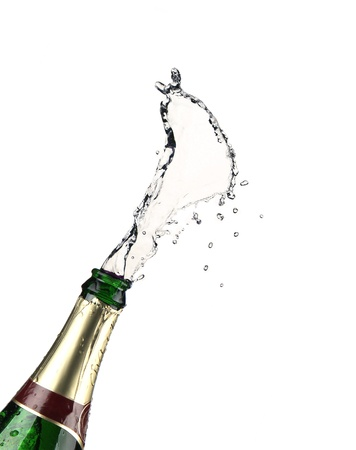 champagne cork: explosion of champagne bottle