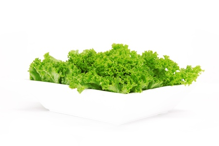 Fresh Salad leaves over white photo