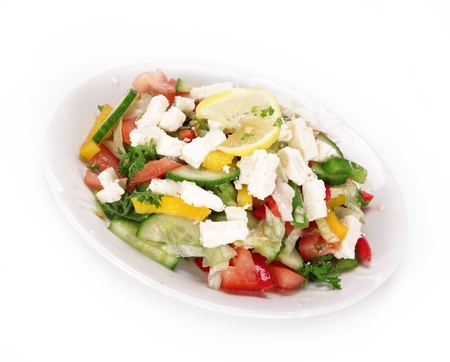 Healthy fresh salad over white Stock Photo - 14864202