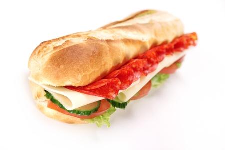 sandwiche: Tasty french baguette
