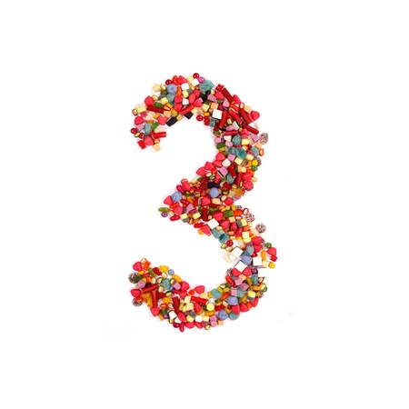 Candy alphabet number 3 photo