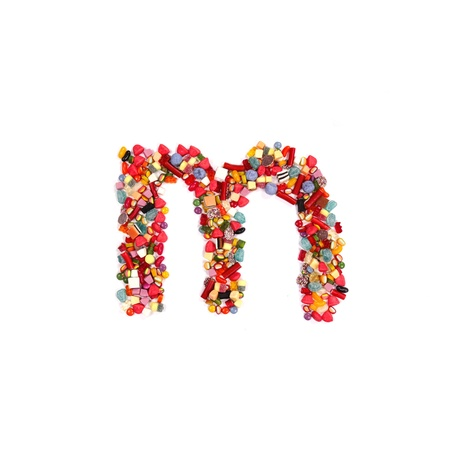 Candy alphabet font photo