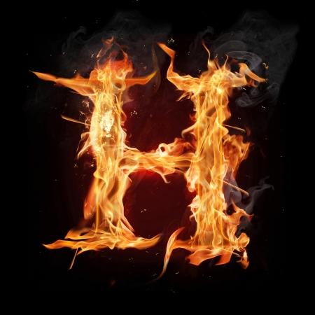 resplandor: Fuego letra del alfabeto