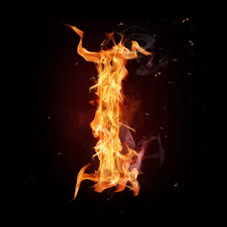 fire symbol: Fire alphabet letter Stock Photo