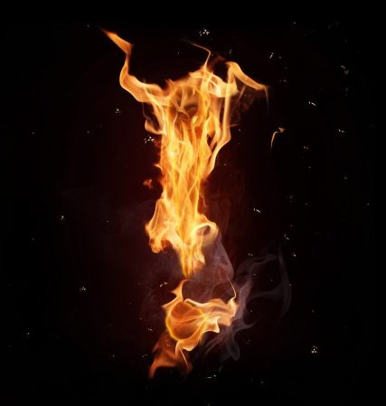 Fire alphabet letter photo