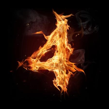 flame alphabet: Fire alphabet number Stock Photo