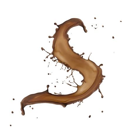Chocolate splash letter isolated on white background Stock Photo - 14864416