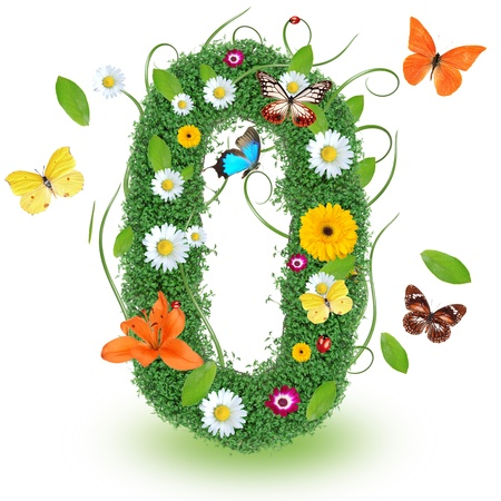 Beautiful spring number  0 Stock Photo - 14864671