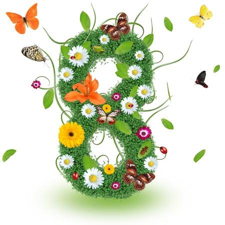 papilio: Beautiful spring number  8  Stock Photo