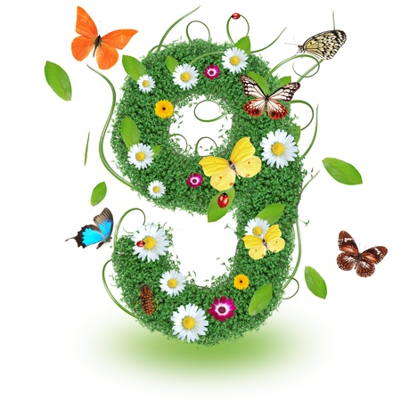 Beautiful spring number 9