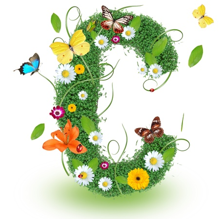 Beautiful spring letter C  Stock Photo