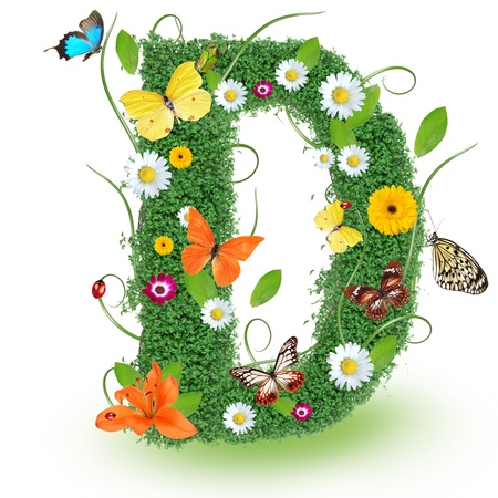 Beautiful spring letter D  photo