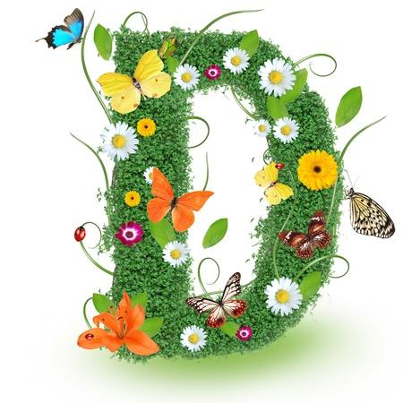papilio: Beautiful spring letter D