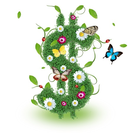 papilio: Beautiful spring Dollar symbol Stock Photo