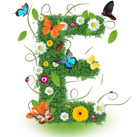 Beautiful spring letter E
