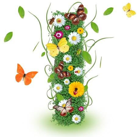 Beautiful spring letter I photo